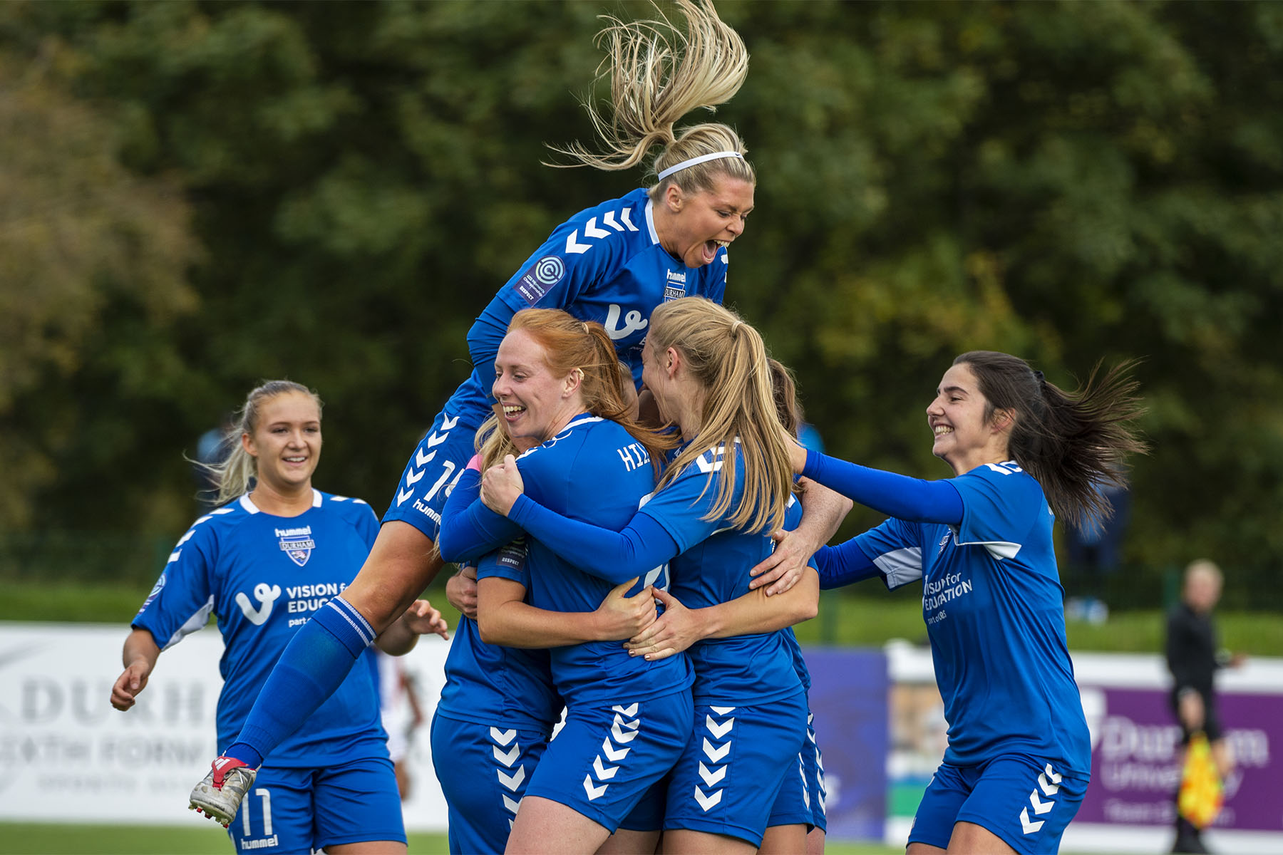 durham celebrate a goal