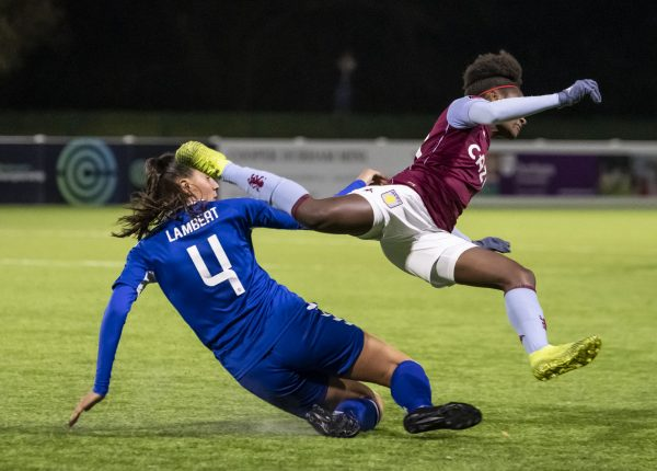 photographs from durham women fc versus aston villa november 2020 at Maiden castle durham in the continental cup
